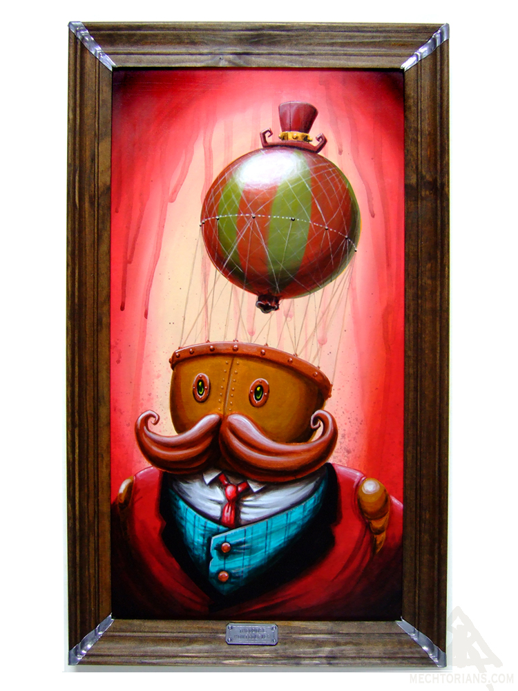 Ballon headed Mechtorian Painting by Doktor A.