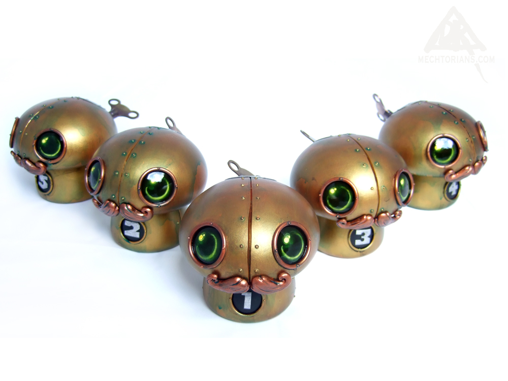 Funguys Mechtorian customised toy mushrooms by Doktor A.