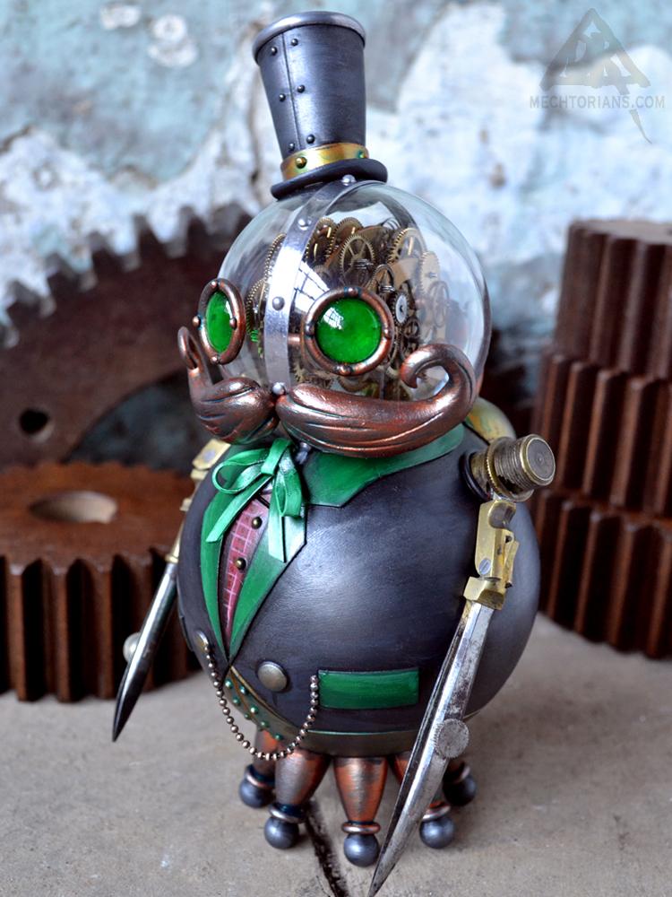 Phineaus Grock Mechtorian figure by Doktor A.