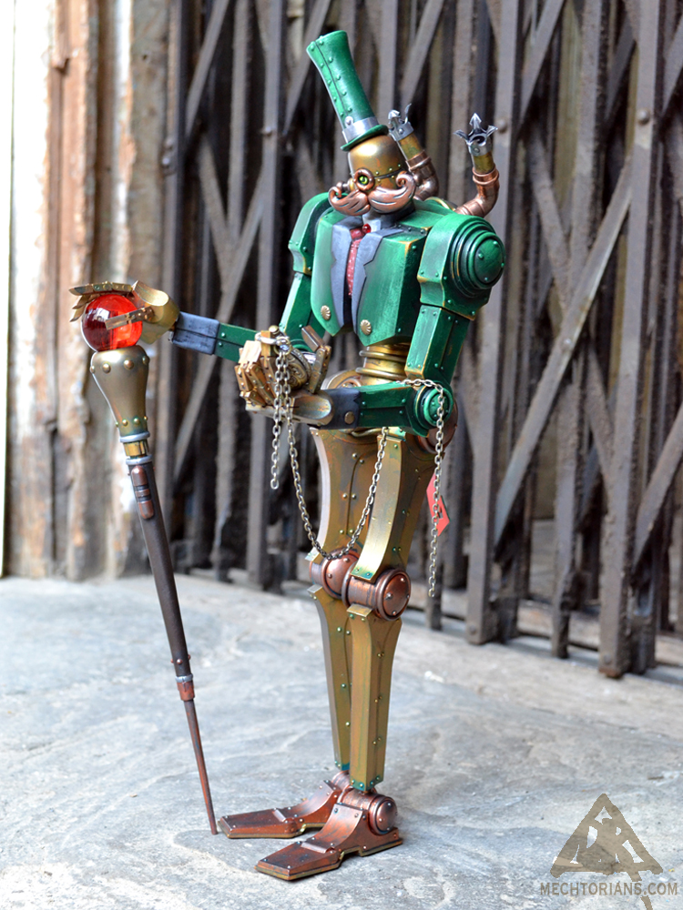 Ernest Longfellow mechtorian customised toy by Doktor A.