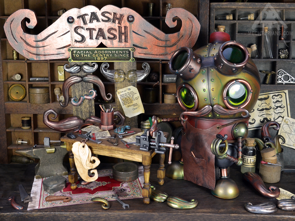 The Tash Stash original mechtorian sculpture by Doktor A.