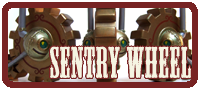 Sentry Wheel Mechtorian production vinyl art toy by Doktor A.
