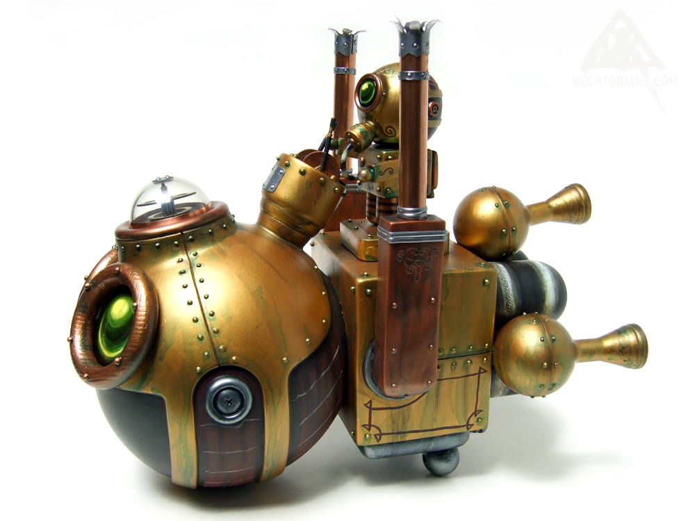 Harry Po and his Really Happy Hovering Combustion Engine Customised vinyl art toy by Doktor A.