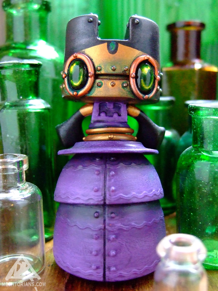 Lady Grey Mechtorian customised art toy by Doktor A.
