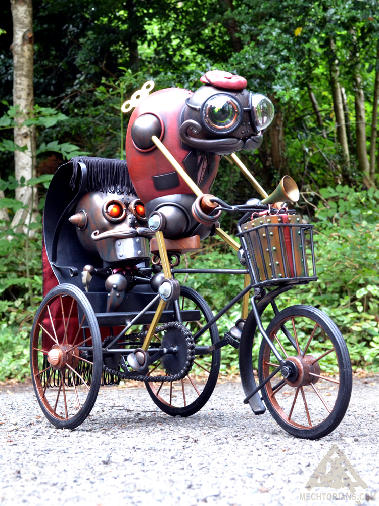 Mr. Rick Shaw and his tricycle Mechtorian sculpture by Doktor A.