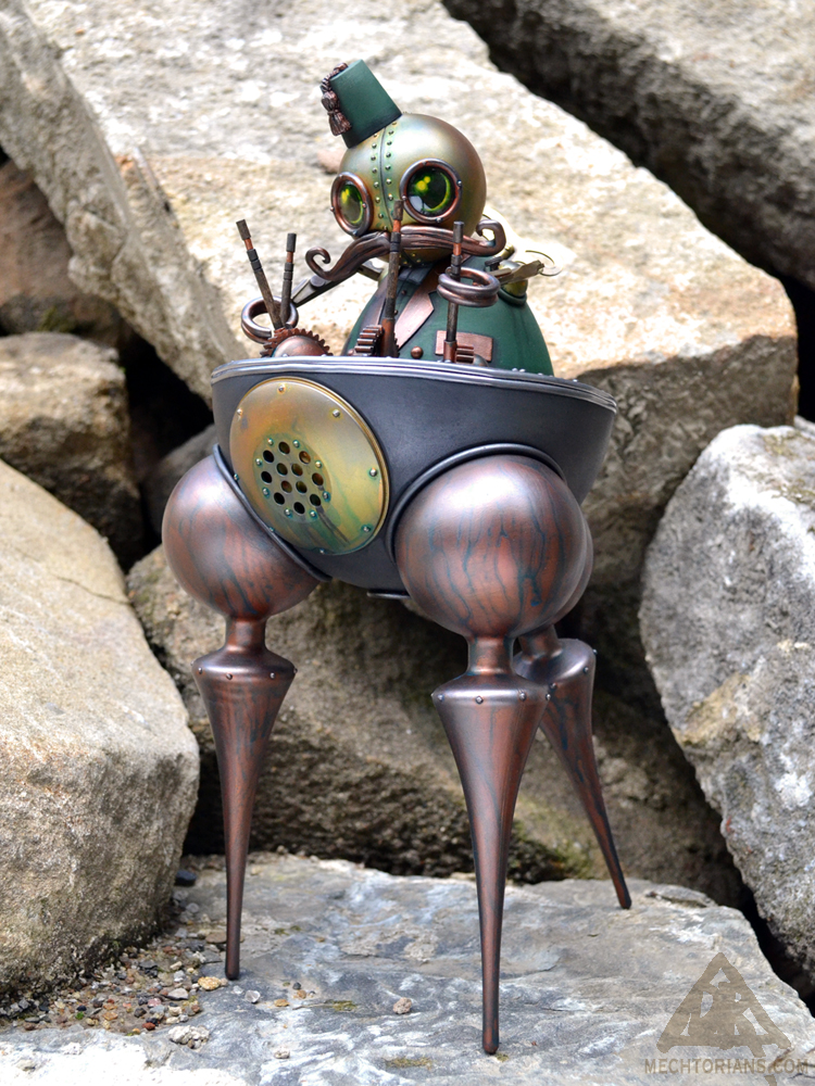 Winslow's Tripodic Perambulator  Mechtorian sculpture by Doktor A.