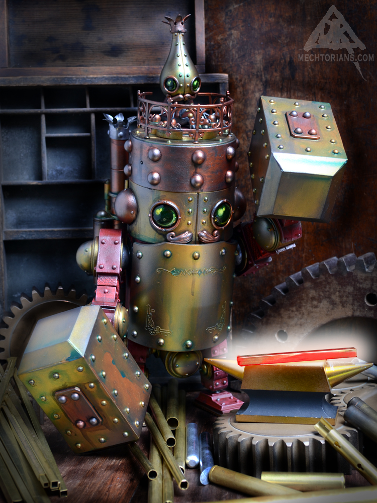 Hammersmith Black Smith Mechtorian Robot figure customised 3A toy by Doktor A.