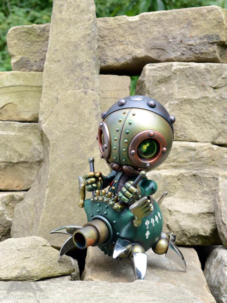 Unit 57 customised Mechtorian Huck Gee Skull Head by Doktor A Bruce Whistlecraft
