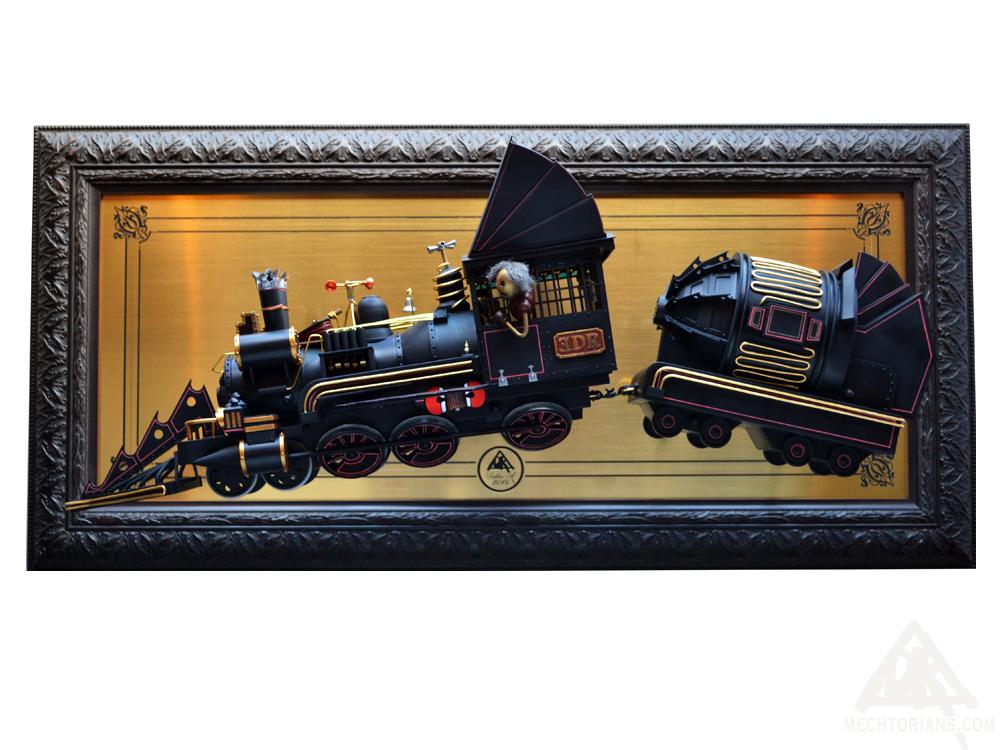 Doc Brown's Train Mechtorian sculpture by Doktor A.