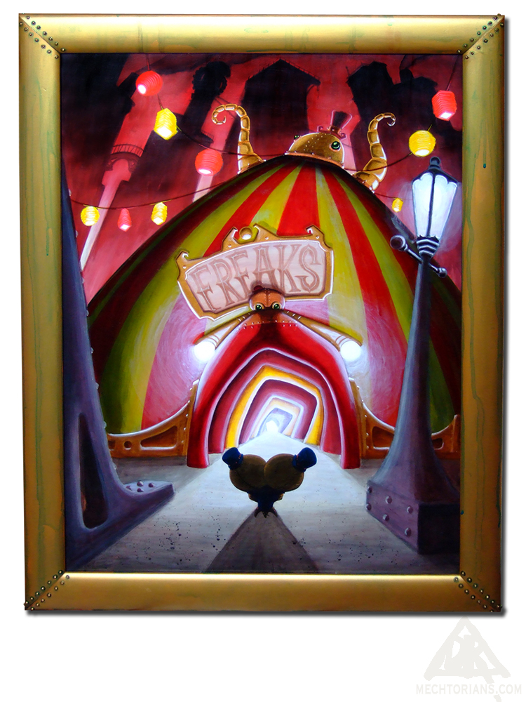 Freak show circus tent pating