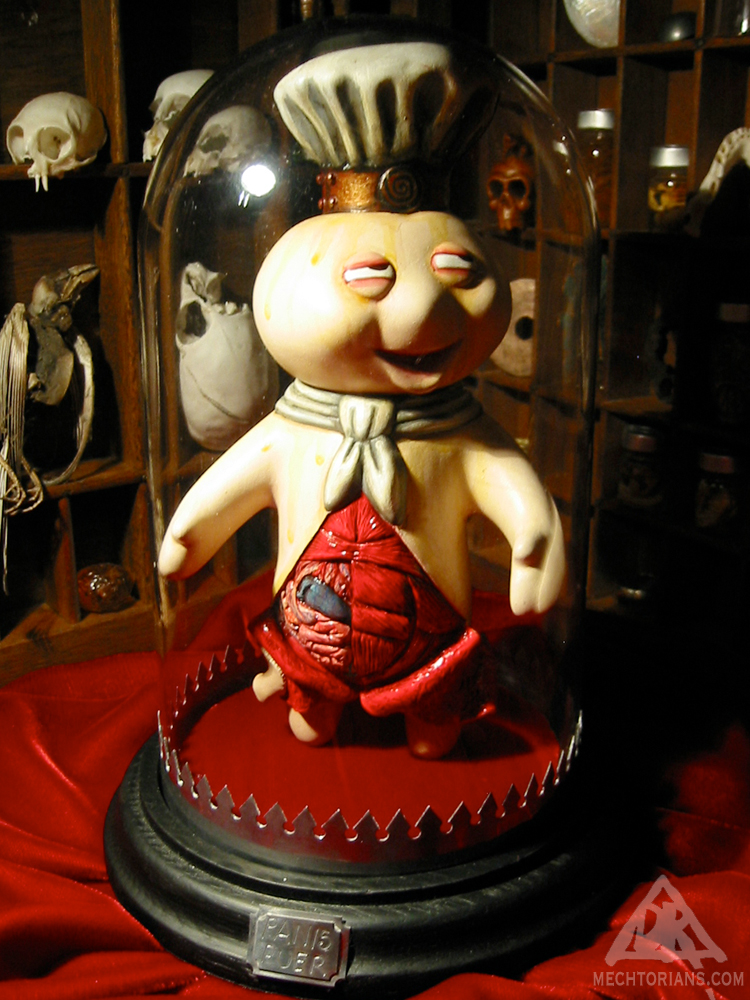 Panis Puer customised vintage vinyl toy by Doktor A.