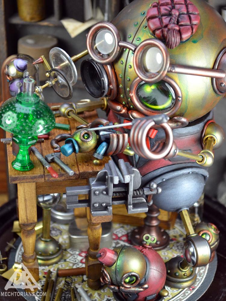 Toy robot making robot Mechtorian by Doktor A.