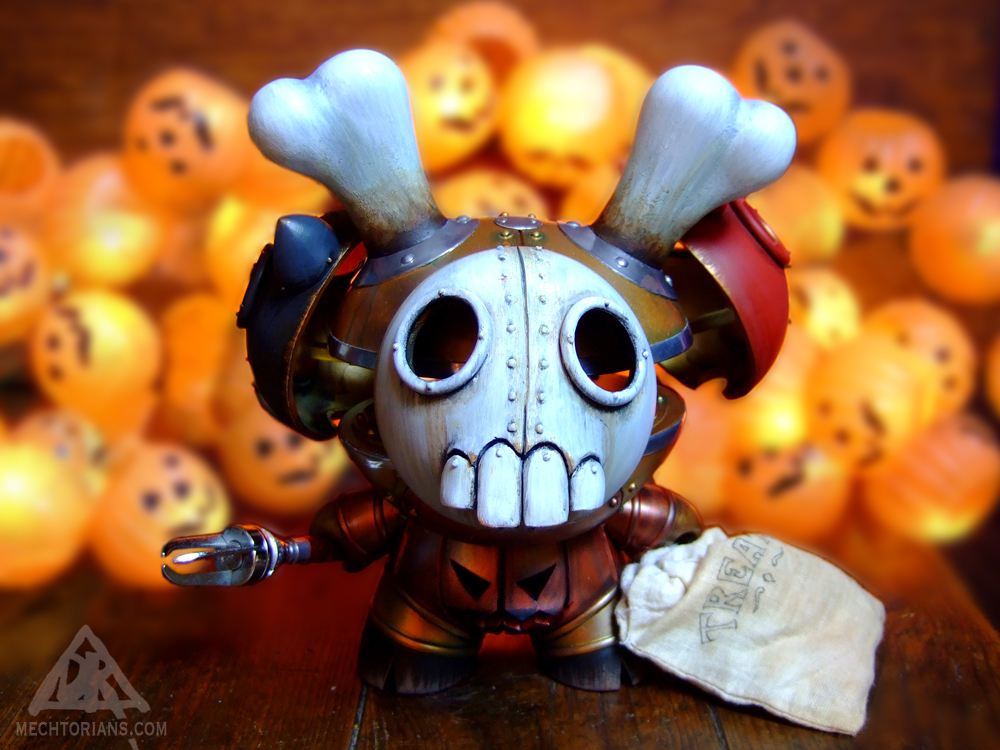 The S. Hain Company Combined Tricking &Treat Collecting Engine Halloween Mechtorian customised art toy by Doktor A.