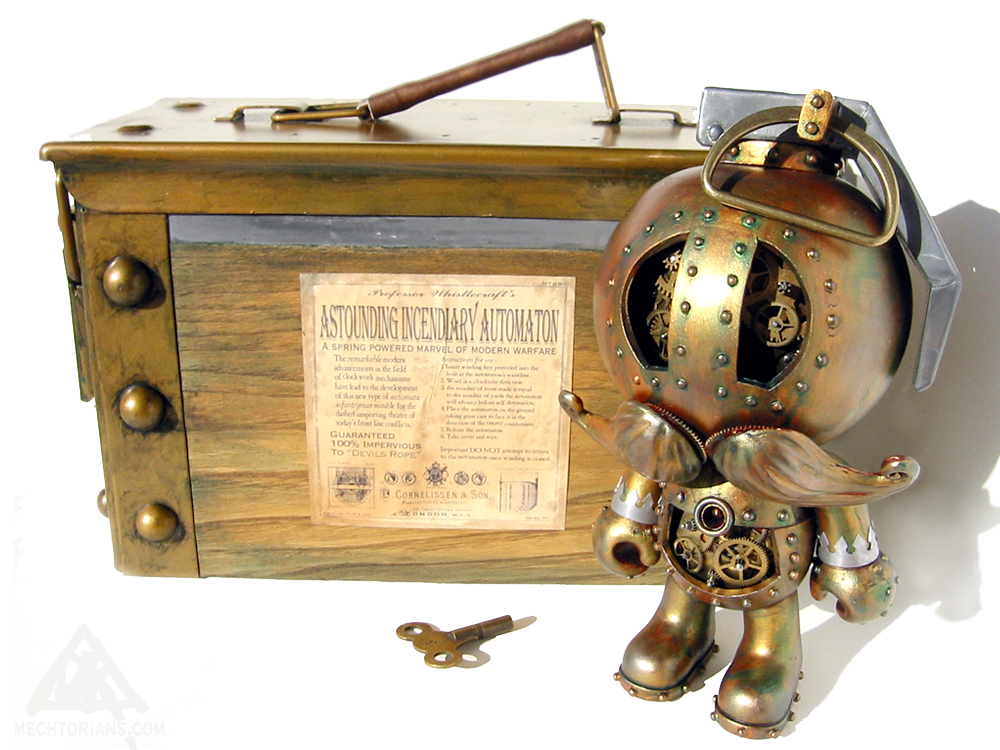 The Astounding Incendiary Automaton echtorian customised toy by Doktor A.