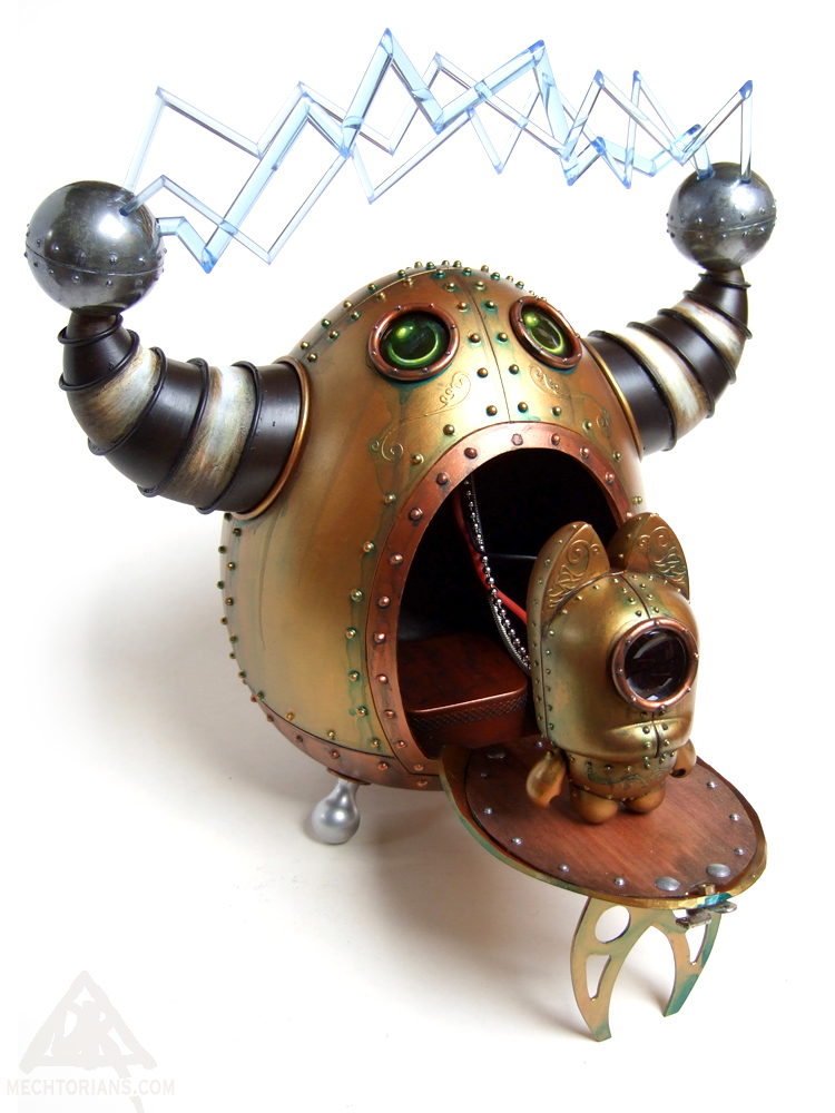 Mr. Tristan's Magnificent Electric Portal Mechtorian customised art toy by Doktor A.