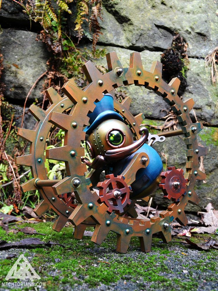 Rollo O Ver Mechtorian monowheel sculpture by Doktor A.
