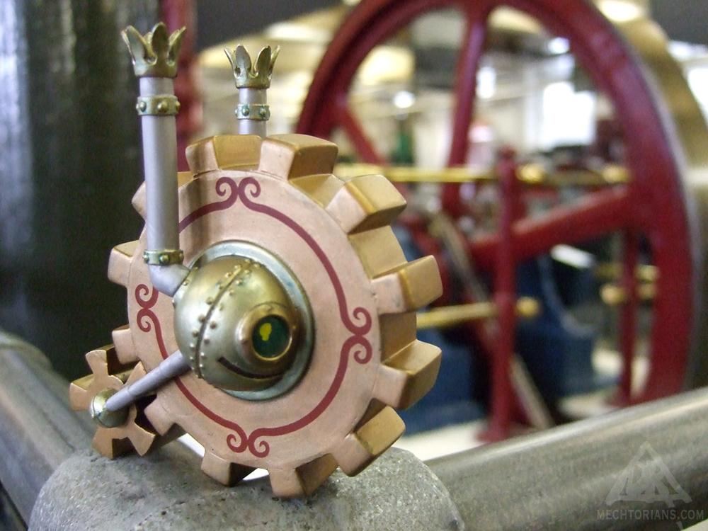 Sentry Wheel Mechtorian production vinyl art toy by Doktor A.