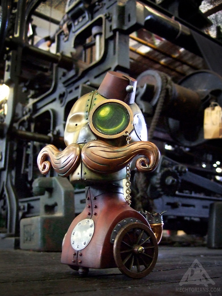 "Roderick ""Tin Nosed"" Magee Mechtorian customised toy by Doktor A."