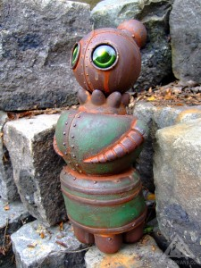 The Abandoned Woman, robotic woman left to rust away.