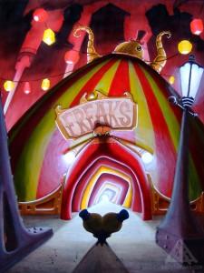 Freak Show tent.